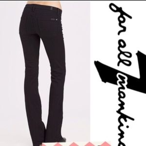 7 For All Mankind black slimmy skinny jeans 14